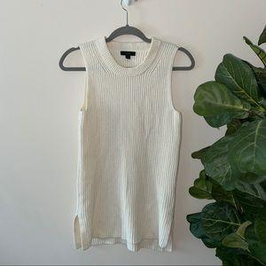 Jcrew ivory knit top
